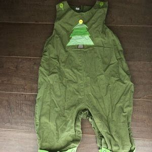 Other - Boys 9month green gingham Christmas tree jumper